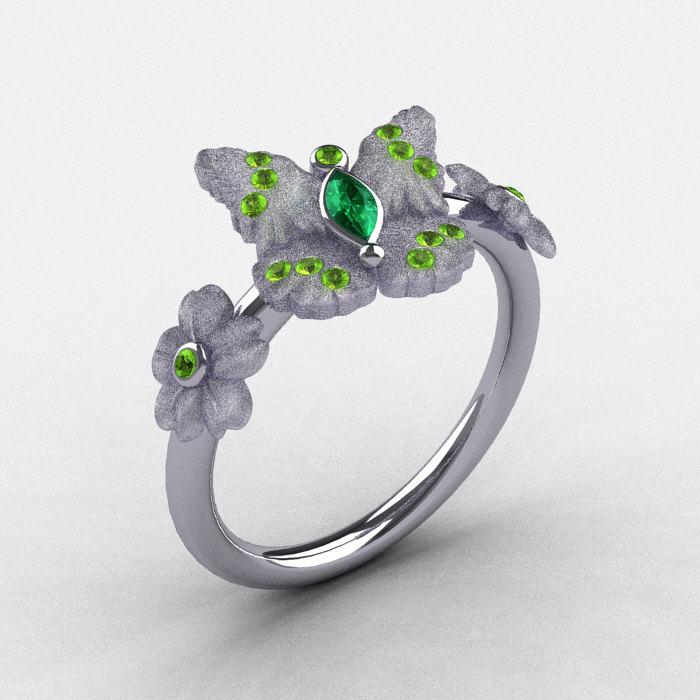 butterfly wedding rings